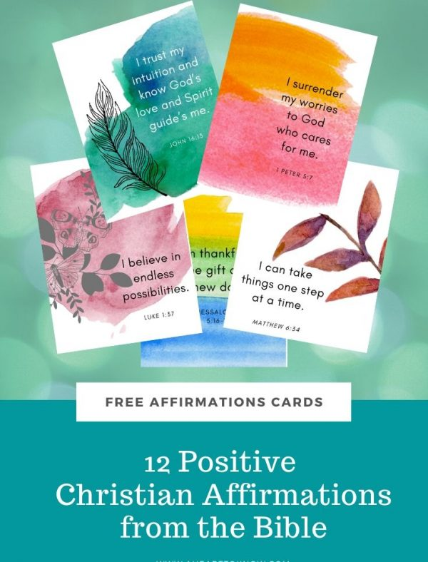 positive christian affirmations from the bible cards