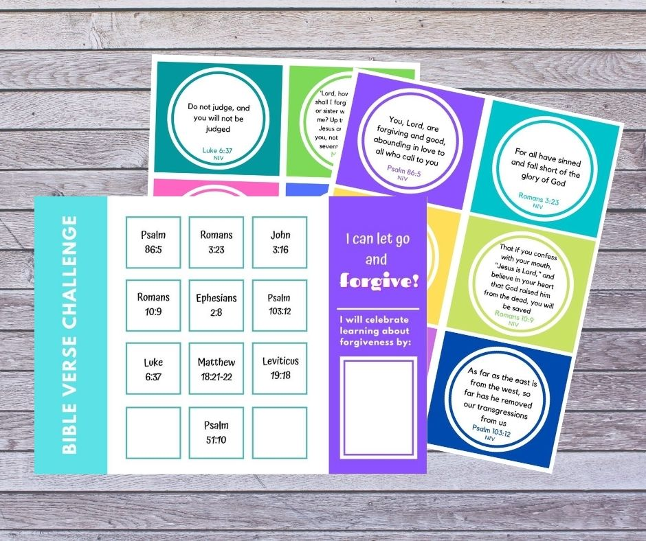 Short bible verses for kids that teach forgiveness free verse cards