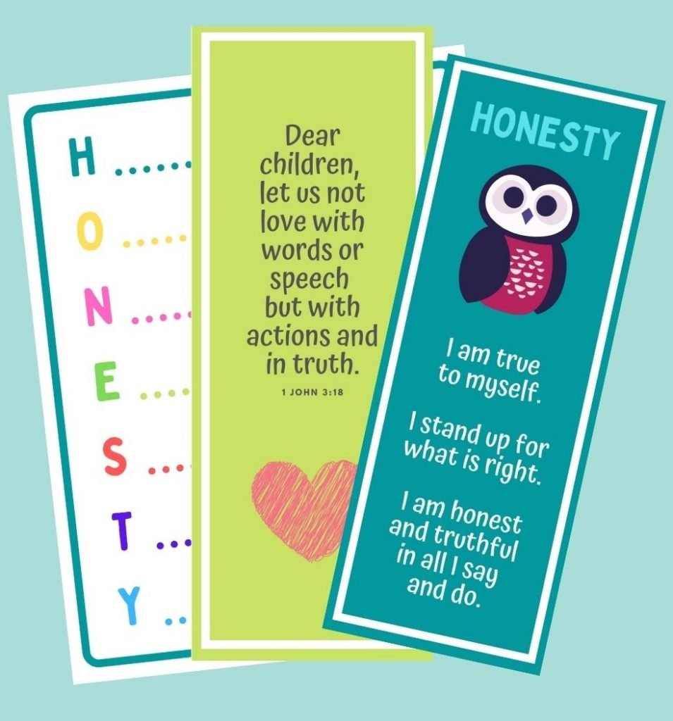 Honesty Bible Stories Lesson Cards