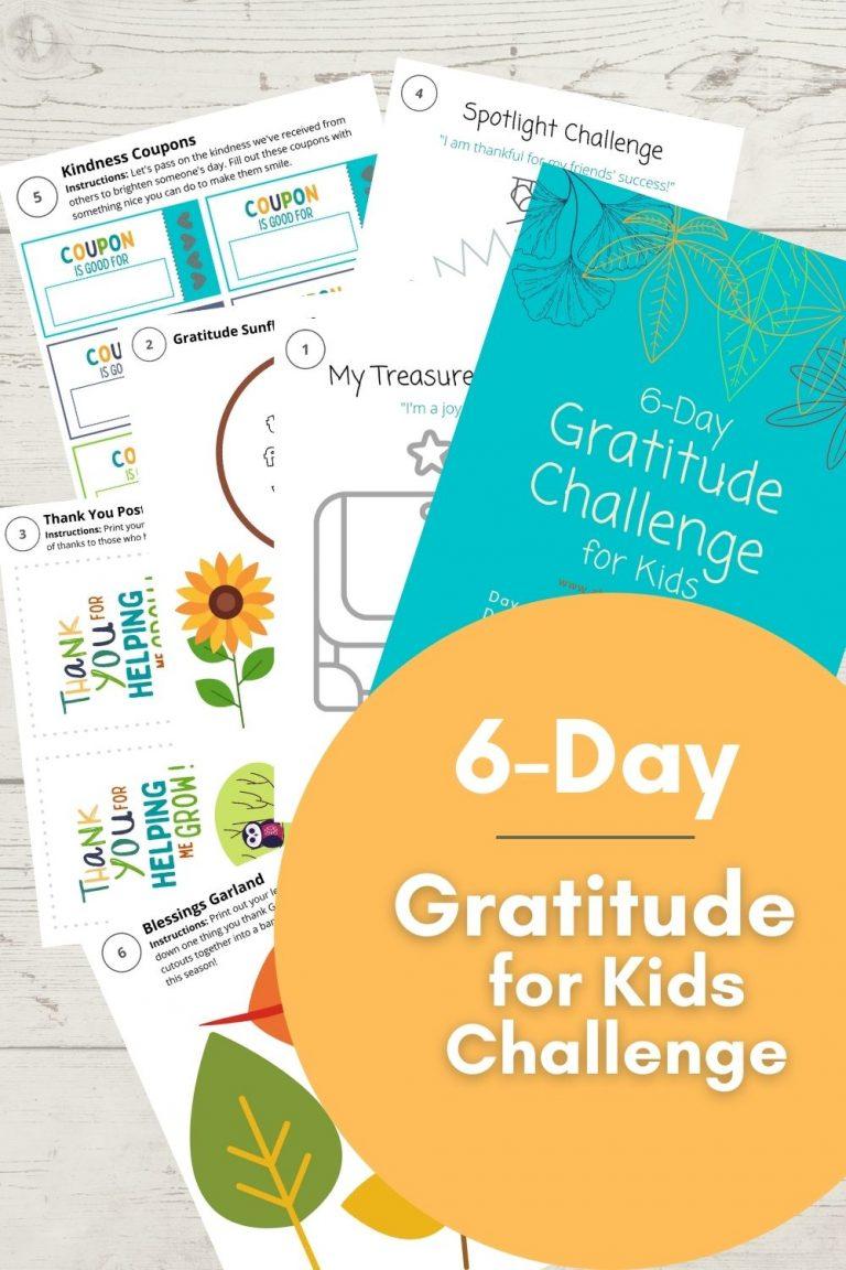 6 Day Gratitude for Kids Challenge