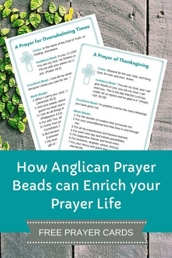 Anglican Prayer Beads Prayer Cards